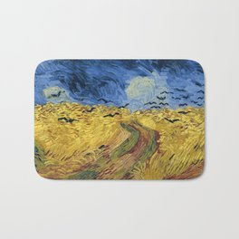 Wheatfield with Crows by Vincent van Gogh Bath Mat