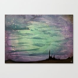 Castle in the Night Canvas Print