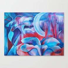Flora Moon Canvas Print