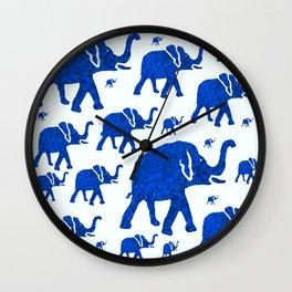 ELEPHANT BLUE MARCH Wall Clock