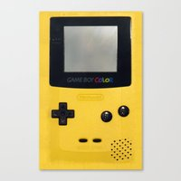 gameboy Canvas Prints featuring GameBoy by Blending