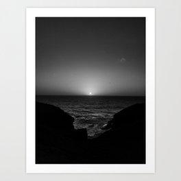 b&w sunrise Art Print