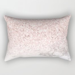 Pretty Rosegold Marble Sparkle Rectangular Pillow