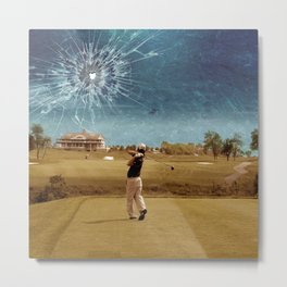 Broken Glass Sky Metal Print