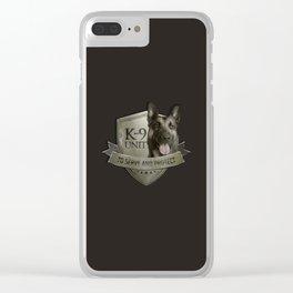 K9 Unit  - Malinois Belgian shepherd -Mechelaar Clear iPhone Case