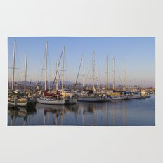 Sail Boats in the Harbor Rug