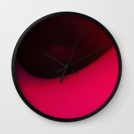 Black hole in pink Wall Clock