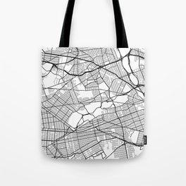 Queens New York Street Map Minimal Tote Bag