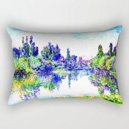 Claude Monet - Morning on the Seine, near Vetheuil 1878 Rectangular Pillow