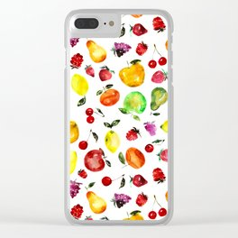Tutti-frutti Clear iPhone Case