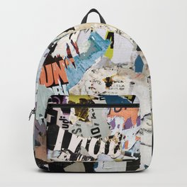 torn poster wall Backpack