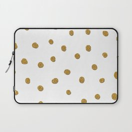 Golden touch II - Gold glitter polka dots Laptop Sleeve