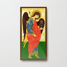 Icon of St. Michael the Archangel Metal Print