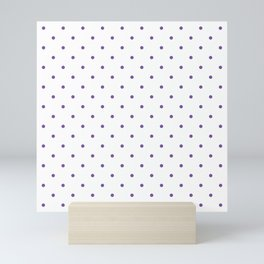 Small Purple Polka Dots Mini Art Print
