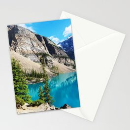 Moraine Lake HDR summer mountains Banff National park Canada Stationery Cards