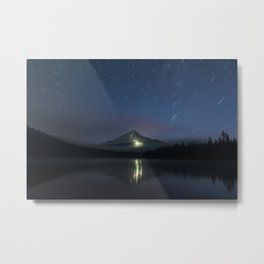 Lights on Mount Hood Metal Print