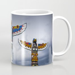 Colorful Totem Poles in the Northwest Coffee Mug