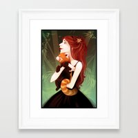bamboo Framed Art Prints featuring Bamboo by Sumi Illustrator