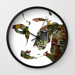 Graffiti Cow Pop Art Colorful Modern Abstract Painting Poster Print Wall Clock