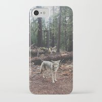 california iPhone & iPod Cases featuring Injured Coyote by Kevin Russ