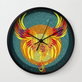 Fire Phoenix Wall Clock