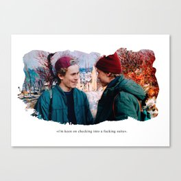 im keen on checking into a f****** suite Canvas Print