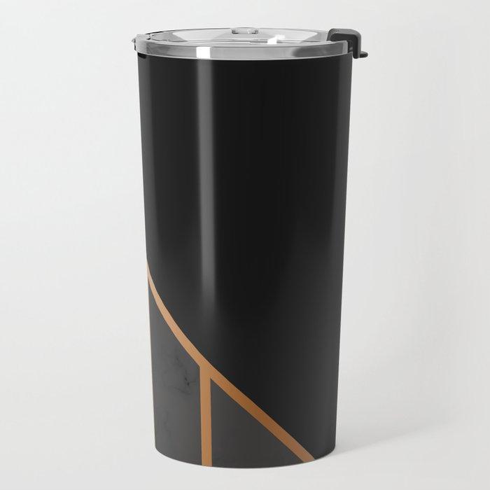 Black & Gold 035 Travel Mug
