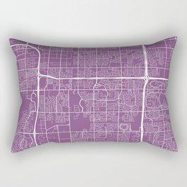 Tempe Map, USA - Purple Rectangular Pillow
