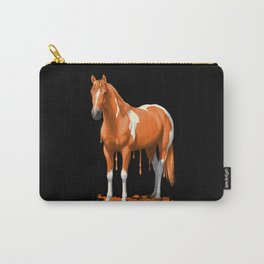 Neon Orange Dripping Wet Paint Horse Carry-All Pouch