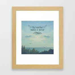 Fly togheter Framed Art Print