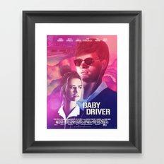 Baby Driver alternate movie poster Framed Art Print