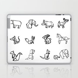 Origami Animal Set Laptop & iPad Skin
