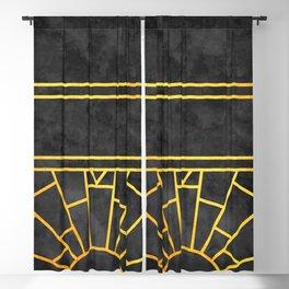 Art Deco Sunrise Blackout Curtain