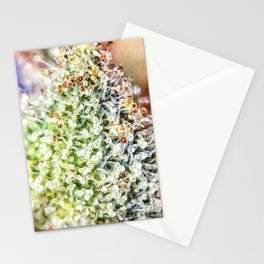 Top Shelf Bud Diamond OG Strain Trichomes Close Up View Stationery Cards