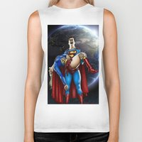 supergirl Biker Tanks featuring The death of Supergirl by Bungle