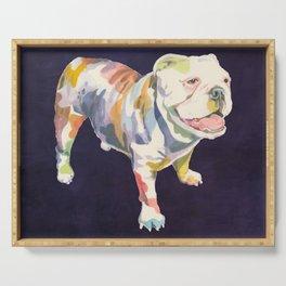 English Bulldog Serving Tray