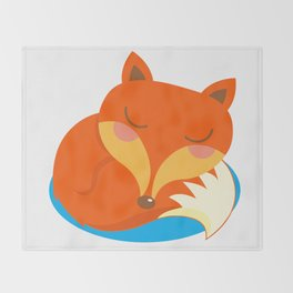 shhh... Fox is sleeping. Throw Blanket