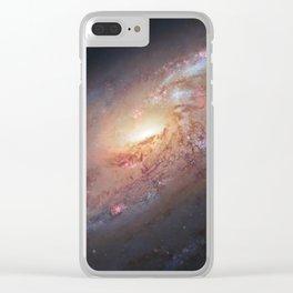 Spiral Galaxy M106 Clear iPhone Case