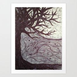 Moon Tales Art Print