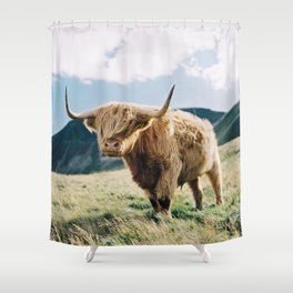 Portrait of a Highland Coo Shower Curtain