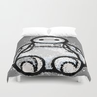 baymax Duvet Covers featuring Baymax by grapeloverarts