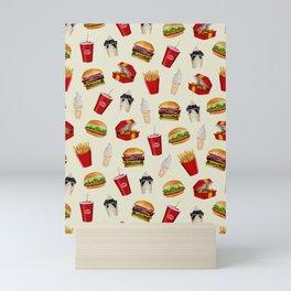 Fast Food Burgers, Fries, Sundaes Mini Art Print