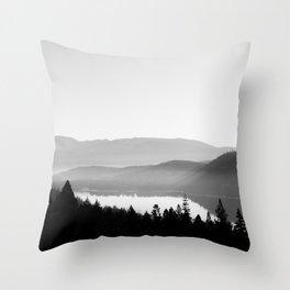 Donner Lake Fog Throw Pillow