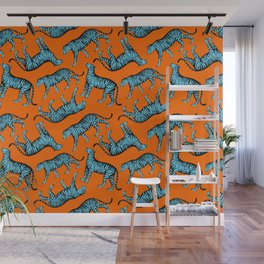 Tigers (Orange and Blue) Wall Mural