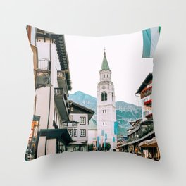Time Stands Still | Cortina d'Ampezzo, Italy Throw Pillow