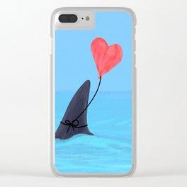 Original Shark Love Design Clear iPhone Case