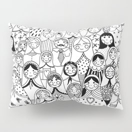 Matrioshka doodle Pillow Sham