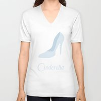 cinderella V-neck T-shirts featuring Cinderella by Citron Vert