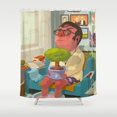 Good morning nature! Shower Curtain