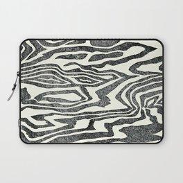 Wood Texture Linocut Laptop Sleeve